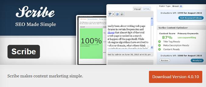 WordPress plugin Scribe