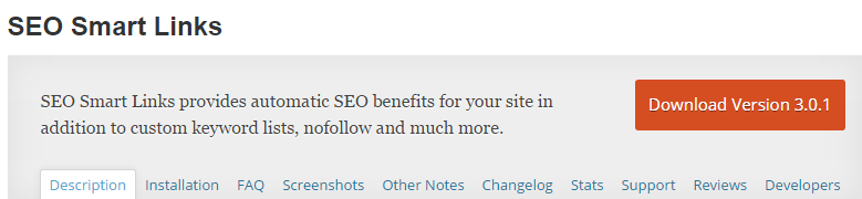 WordPress plugin smart SEO Link