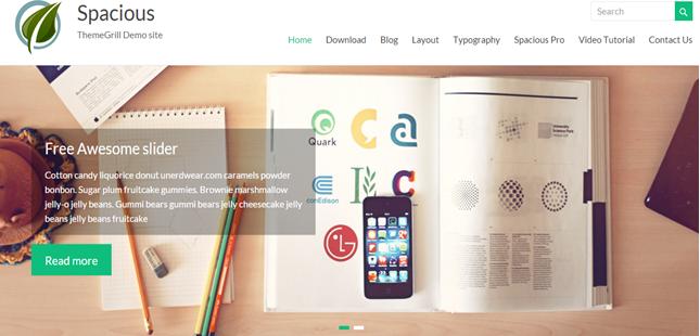 WordPress theme spacious