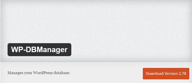 WordPress database plugin WP-DBManager