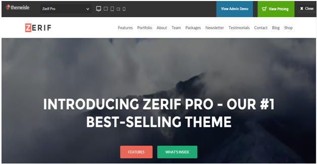 WordPress Theme Zerif Pro