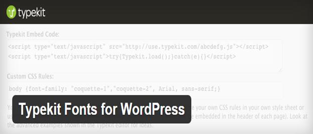 Typekit for WordPress