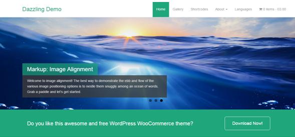 WordPress theme Dazzling Demo