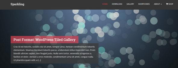 WordPress Theme Sparkling