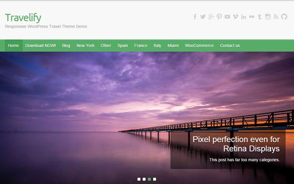 WordPress theme Travelify