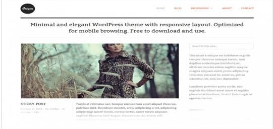 WordPress theme Origin