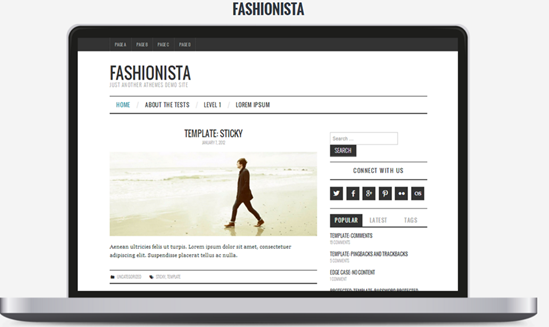 WordPress theme Fashionista