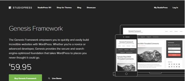 WordPress theme Genesis Framework