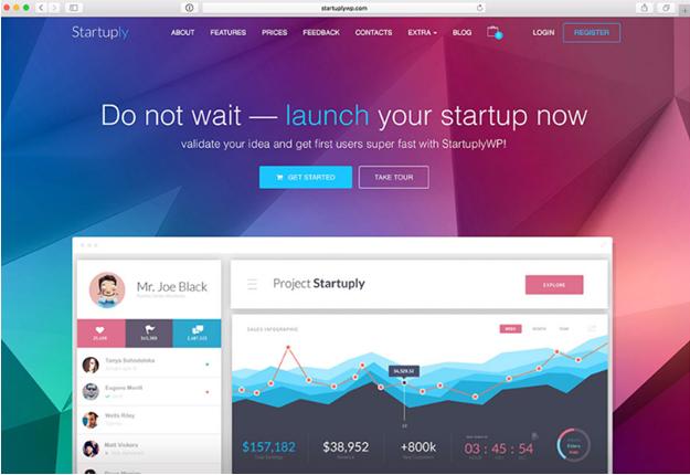 WordPress theme Staruply