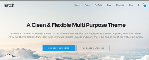 WordPress theme Hatch