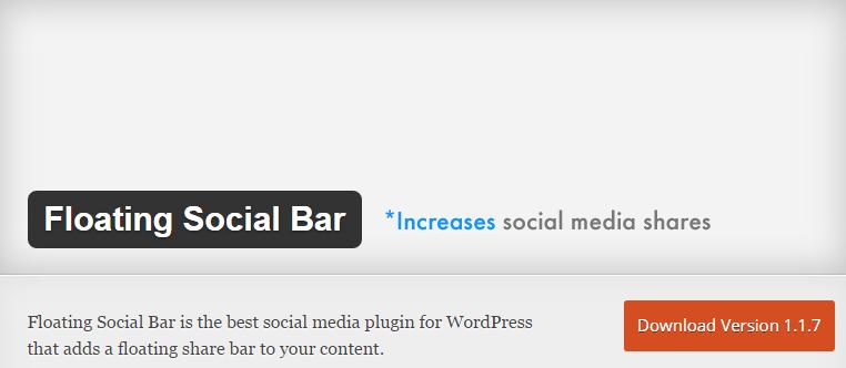 WordPress plugin Floating social bar