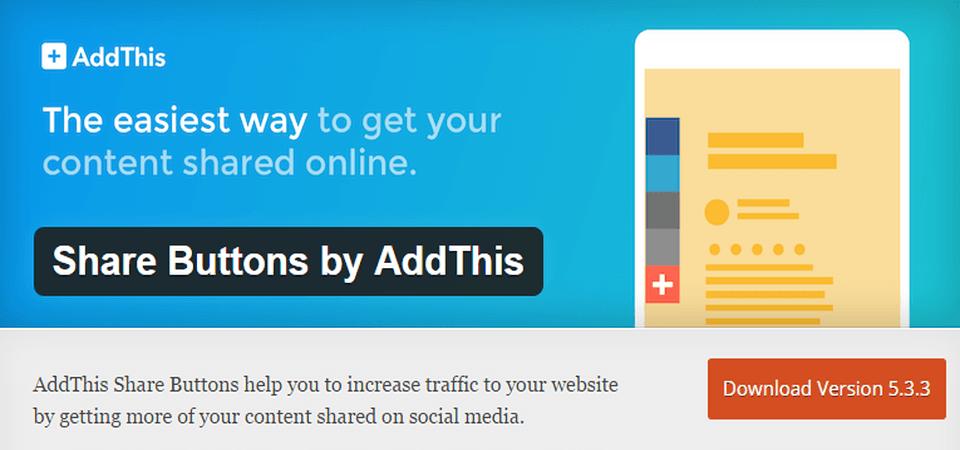 WordPress plugin Add this