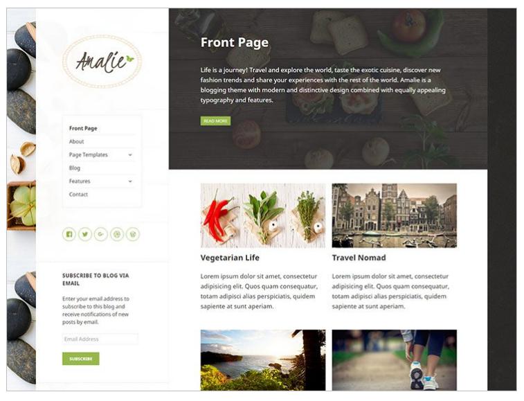 Amalie Feminine WordPress theme