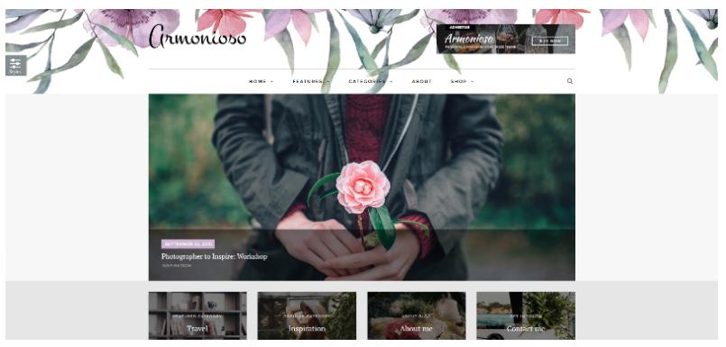 WordPress theme Armonioso