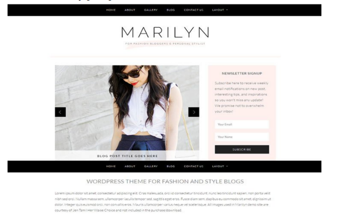 Marilyn WordPress theme