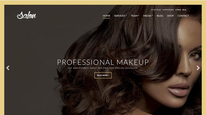 Salon WordPress theme
