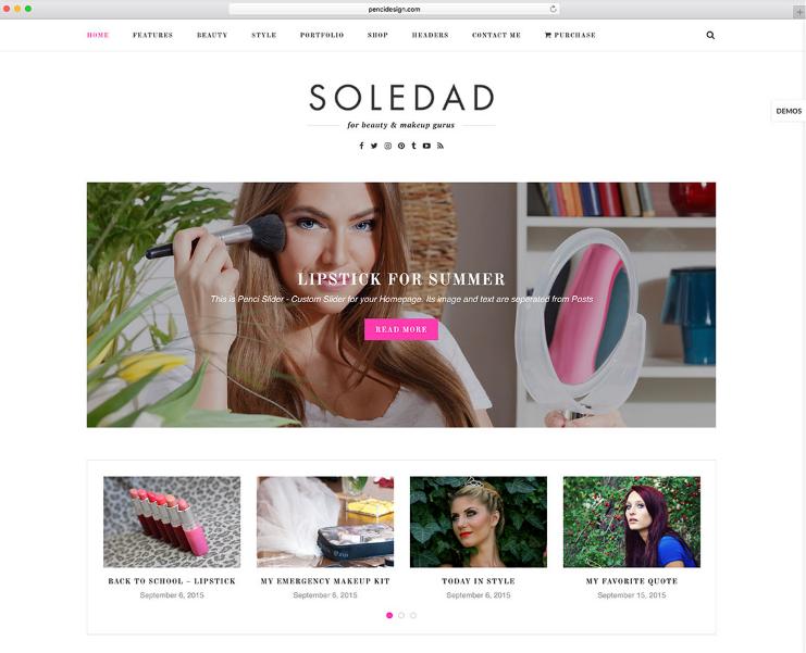 SoleDad feminine WordPress theme
