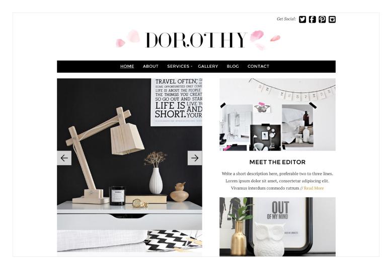 WordPress Feminine theme Dorothy