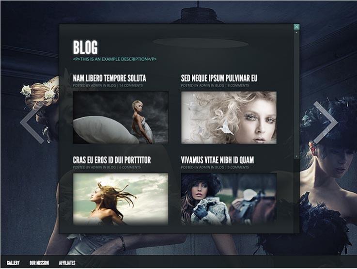 WordPress feminine theme Gleam