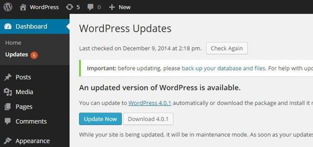 latest version of wp