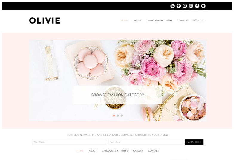 Olivie WordPress theme