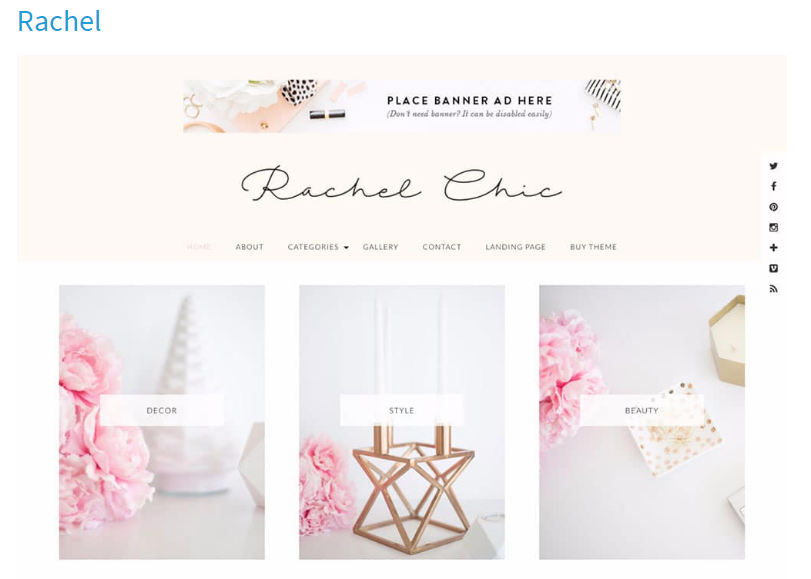 Rachel WordPress theme