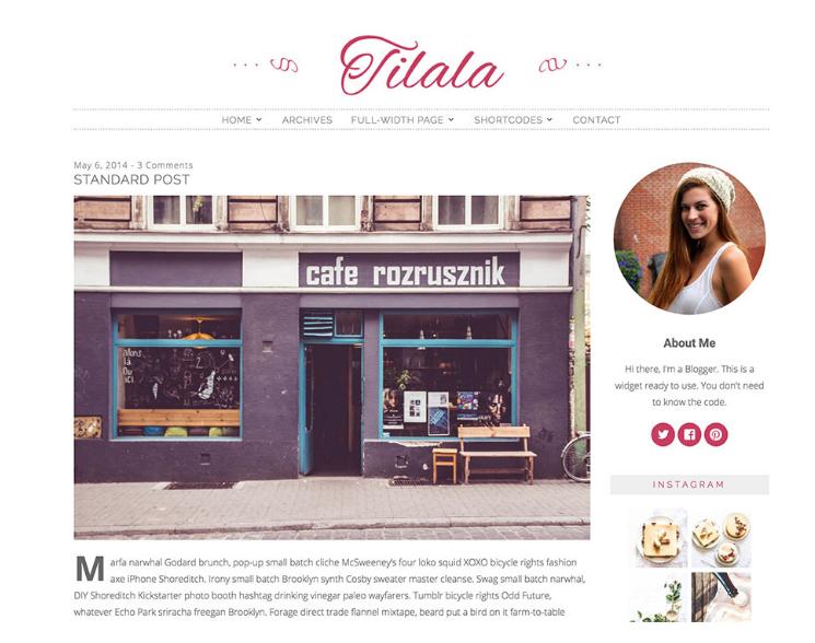 WordPress theme Tilala