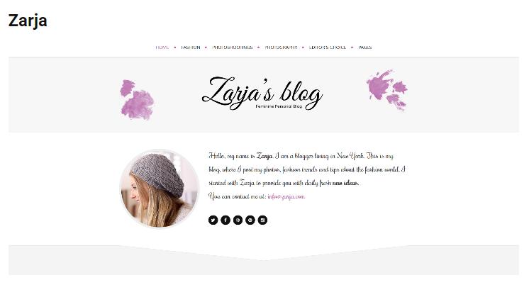 Zarja WordPress theme