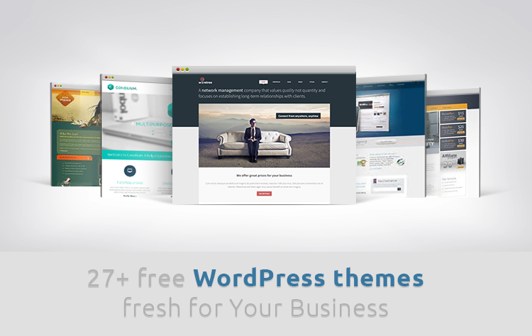 27 free wordpress themes fresh for your business free wp theme friedricerecipe Choice Image