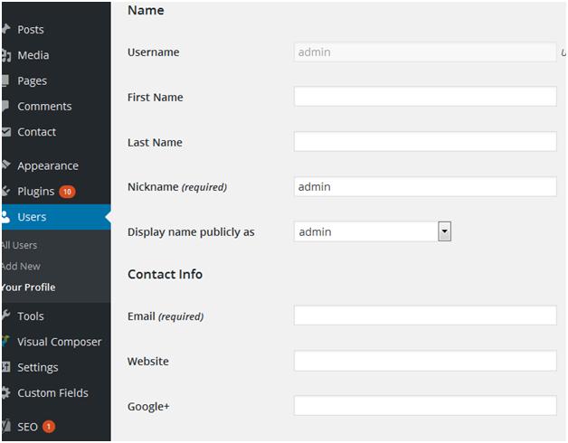 wp user profile
