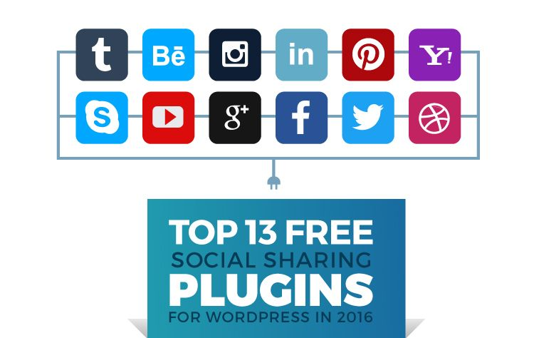 Top 13 Free Social Sharing Plugins for WordPress in 2016