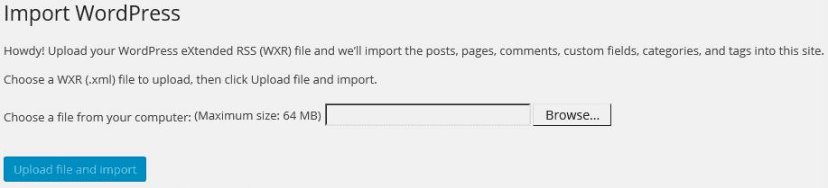 Import WordPress