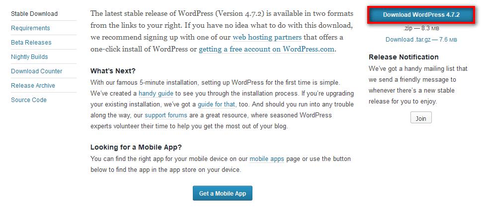 Wordpress-installation-file-download
