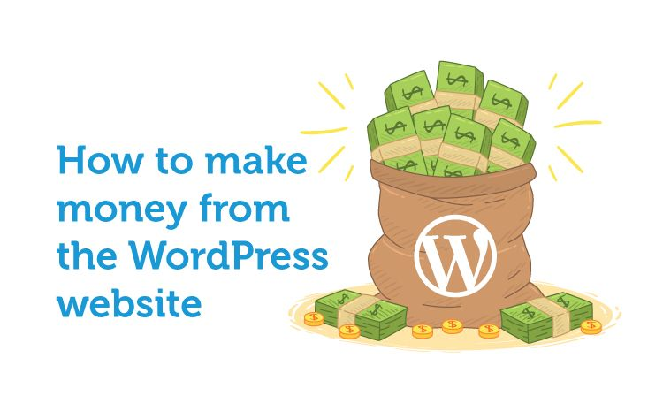 making money from wordpress website