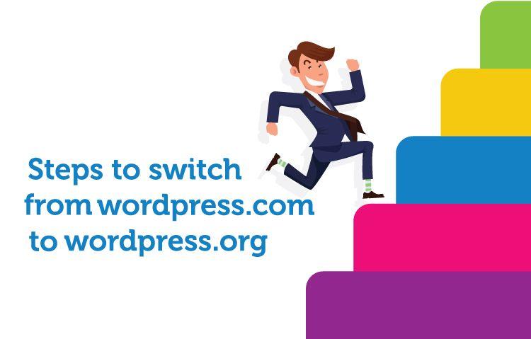 step to switch wordpress.com to .org