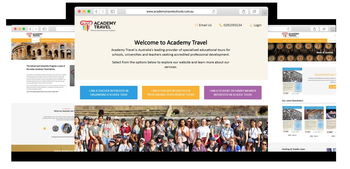 academy travel website