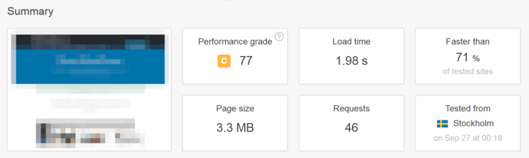 wordpress speed check
