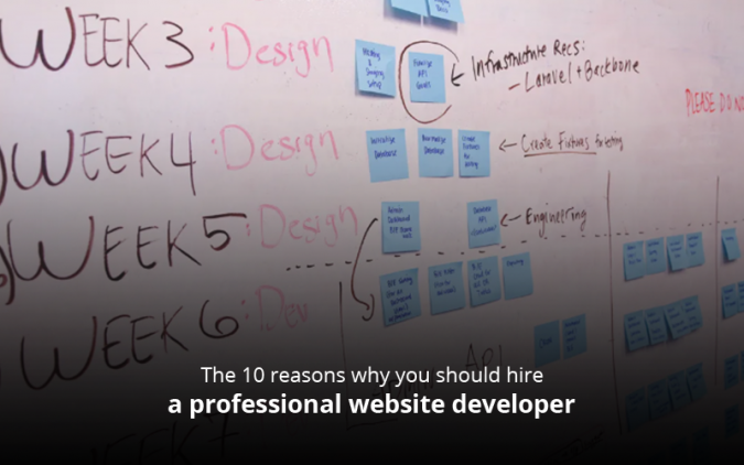 The 10 reasons why you should hire a professional website developer