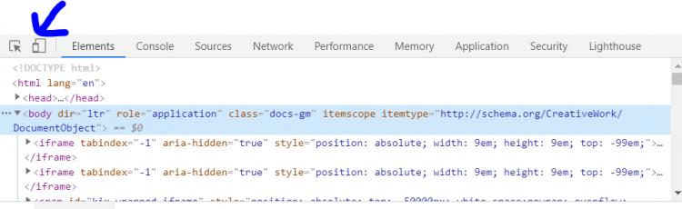 toogle-device-toolbar