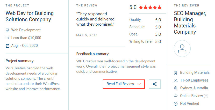WP Creative Reviews